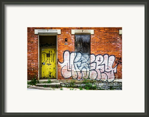 Cincinnati Glencoe Auburn Place Graffiti Picture Framed Print By Paul Velgos
