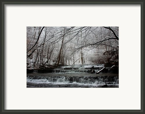 Cinderella Falls In Winter Framed Print By Rachel Hallmark