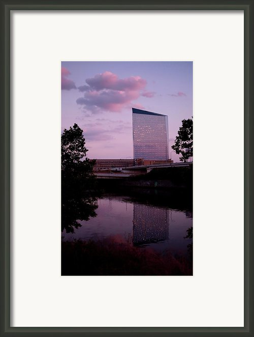 Cira Centre Framed Print By Rona Black