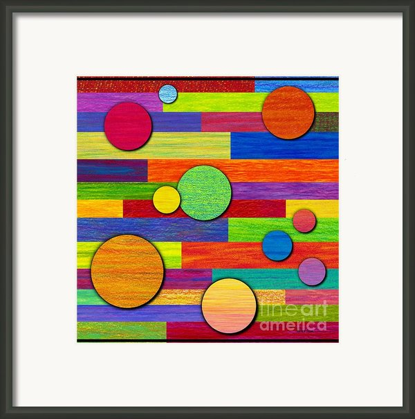 Circular Bystanders  Framed Print By David K Small
