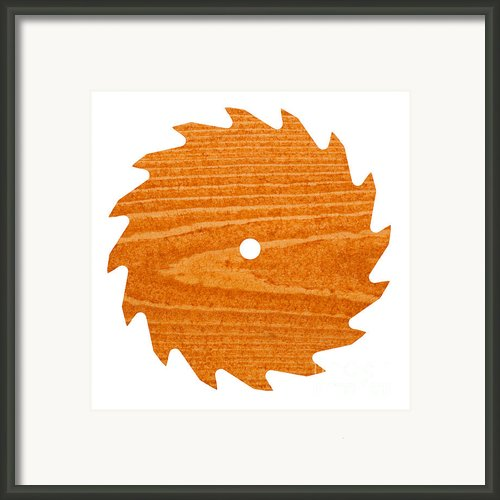 Circular Saw Blade With Pine Wood Texture Framed Print By Stephan Pietzko