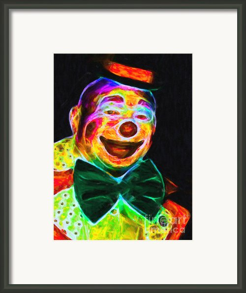 Circus Clown - Version 3 - Painterly Framed Print By Wingsdomain Art And Photography