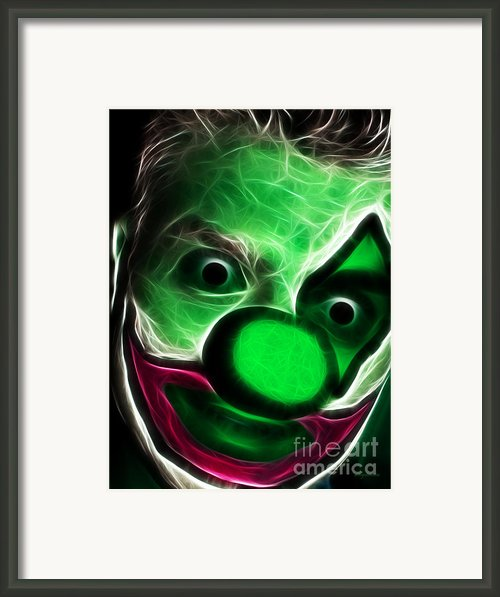 Circus Clown - Version 8 - Electric Framed Print By Wingsdomain Art And Photography