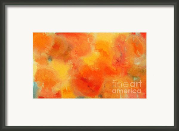Citrus Passion - Abstract - Digital Painting Framed Print By Andee Photography