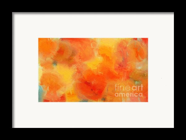 Citrus Passion - Abstract - Digital Painting Framed Print By Andee Design