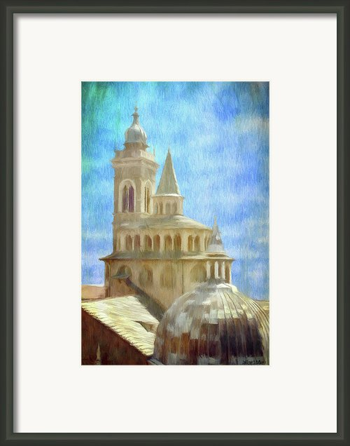 Citta Alta From Above Framed Print By Jeff Kolker
