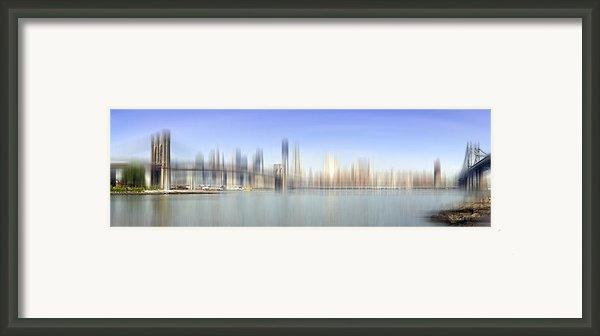 City-art Manhattan Skyline I Framed Print By Melanie Viola