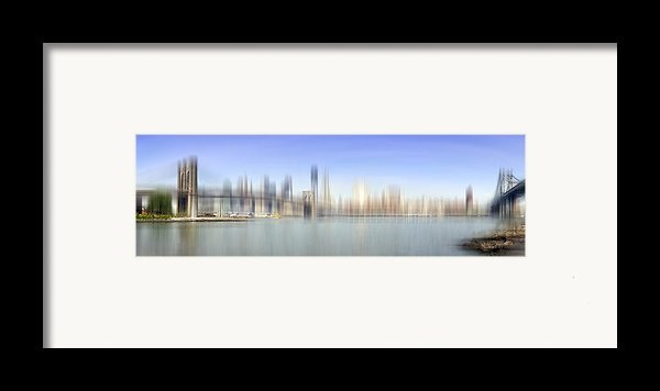 City-art Manhattan Skyline I Framed Print By Melanie Viola