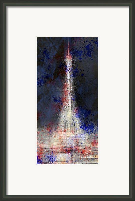 City-art Paris Eiffel Tower In National Colours Framed Print By Melanie Viola