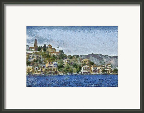 City By The Sea Framed Print By Ayse T Werner