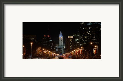 City Hall At Night Framed Print By Jennifer Lyon