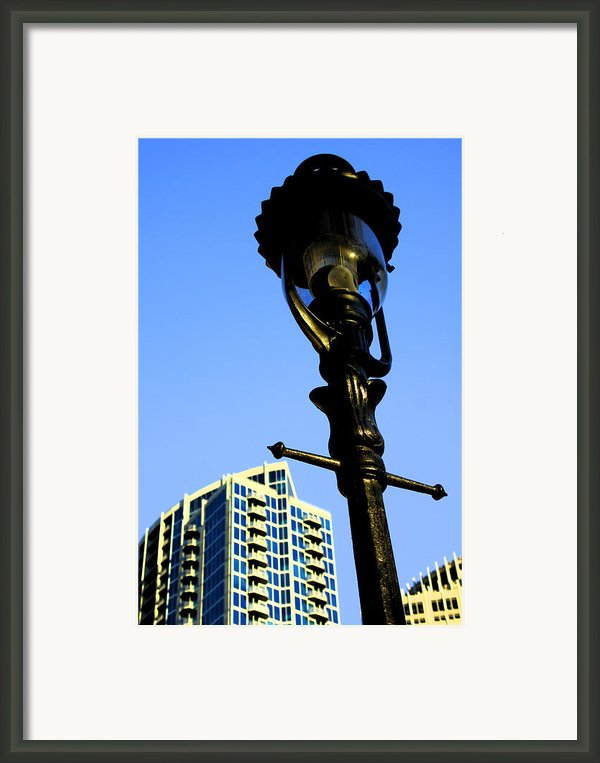 City Lamp Post Framed Print By Karol  Livote