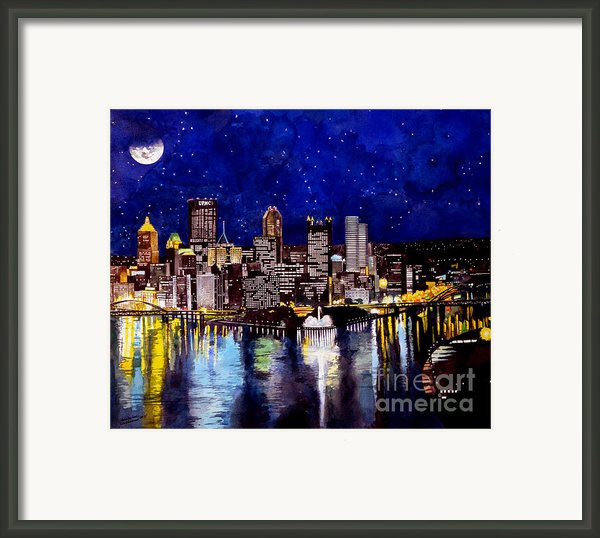 City Of Pittsburgh Pennsylvania  Framed Print By Christopher Shellhammer