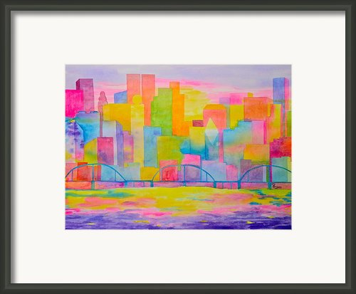 City To Dye For Framed Print By Rhonda Leonard