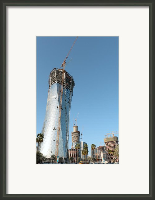 City Under Construction Framed Print By Paul Cowan