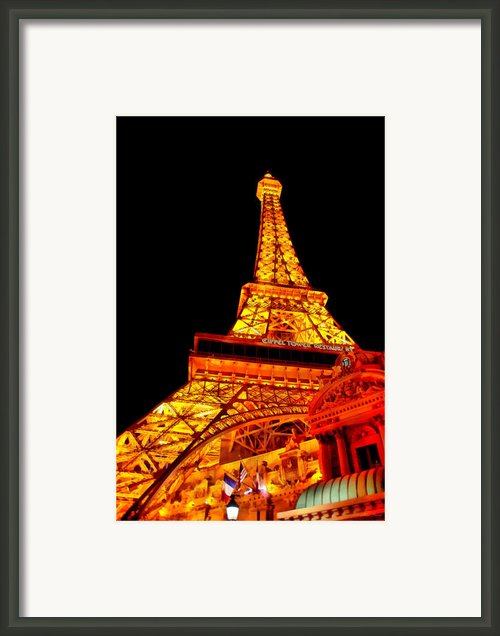 City - Vegas - Paris - Eiffel Tower Restaurant Framed Print By Mike Savad