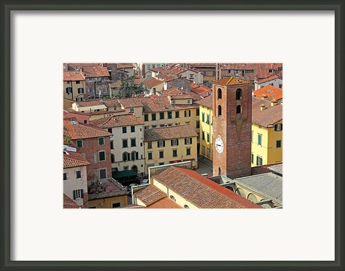 City View Of Lucca With The Clock Tower Framed Print By Kiril Stanchev
