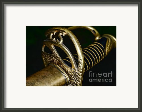 Civil War - Confederate Officer Sword - Weapon Framed Print By Paul Ward