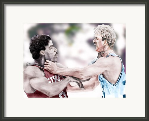 Clash Of The Titans 1984 - Bird And Doctor  J Framed Print By Reggie Duffie