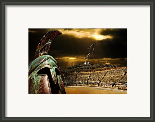 Clash Of The Titans Framed Print By Meirion Matthias