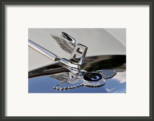 Classic Bentley T Series Corniche 1975 Badge Framed Print By George Atsametakis