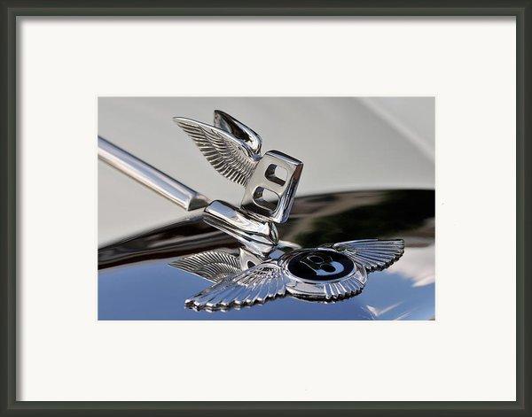 Classic Bentley T Series Corniche 1975 Badge Framed Print By George Atsametakis