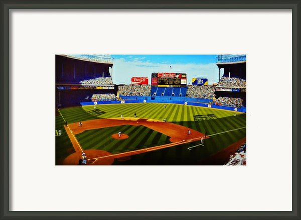 Cleveland Stadium Framed Print By Thomas  Kolendra