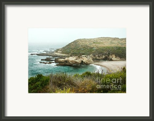 Cliffs Over Montana De Oro California Framed Print By Author And Photographer Laura Wrede