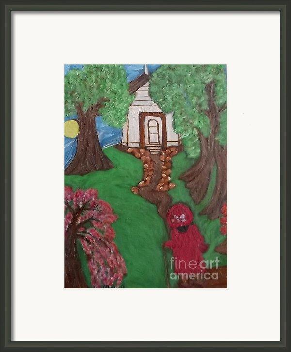 Climbin 2 Framed Print By Mildred Chatman