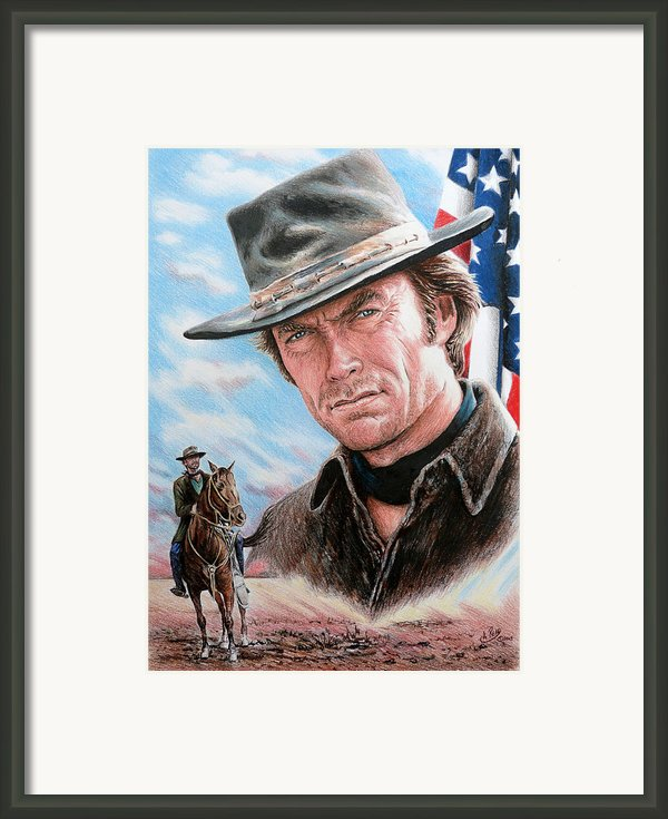 Clint Eastwood American Legend Framed Print By Andrew Read