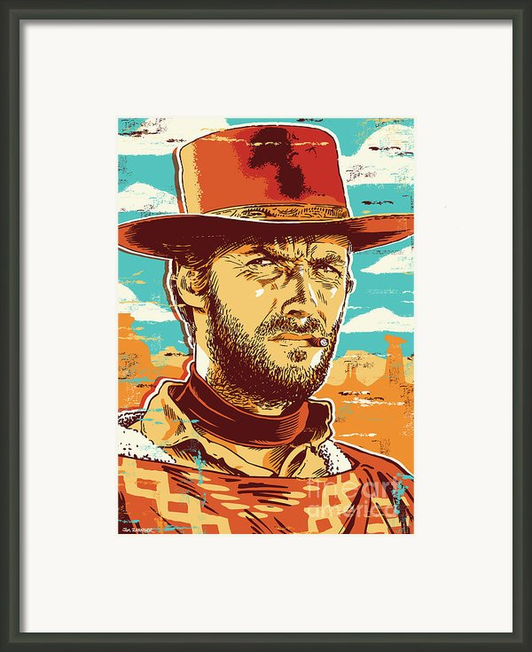 Clint Eastwood Pop Art Framed Print By Jim Zahniser