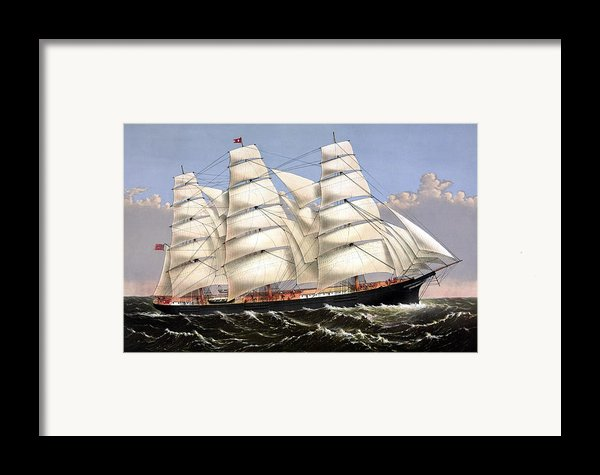 Clipper Ship Three Brothers Framed Print By War Is Hell Store