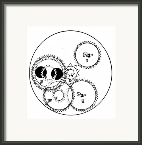 Clock Gears Framed Print By