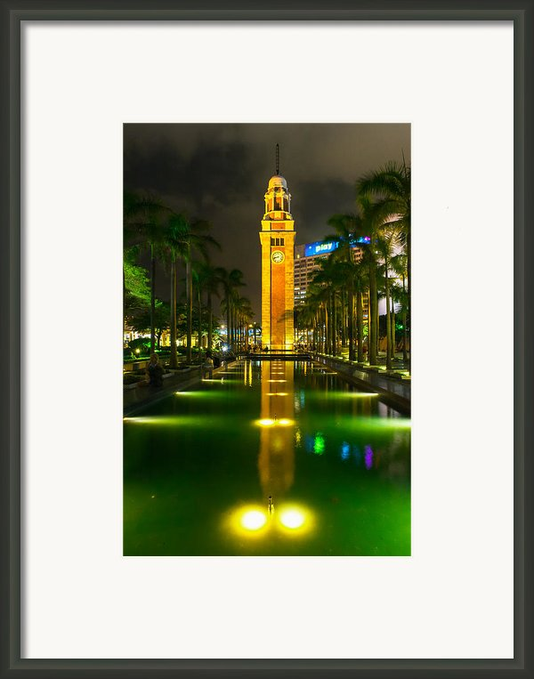 Clock Tower Of Old Kowloon Station Framed Print By Hisao Mogi