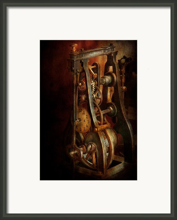 Clockmaker - Careful I Bite Framed Print By Mike Savad
