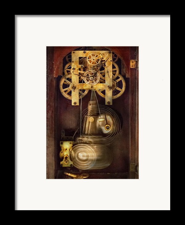 Clockmaker - The Mechanism  Framed Print By Mike Savad