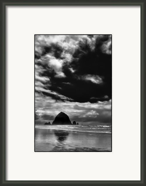 Clouds Over Haystack Rock On Cannon Beach Framed Print By David Patterson