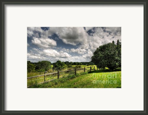 Cloudy Day In The Country Framed Print By Kaye Menner