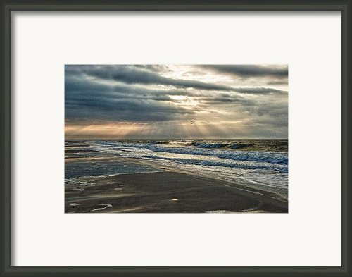 Cloudy Sunrise Framed Print By Michael Thomas