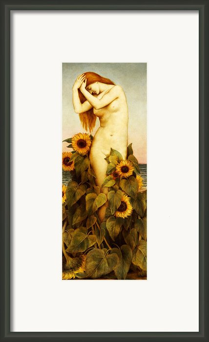 Clytie Framed Print By Evelyn De Morgan