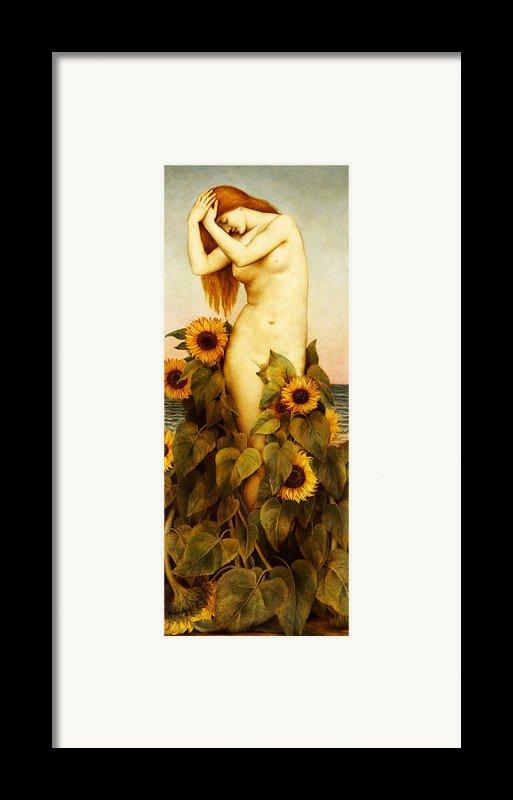 Clytie Framed Print By Evelyn De Morgan