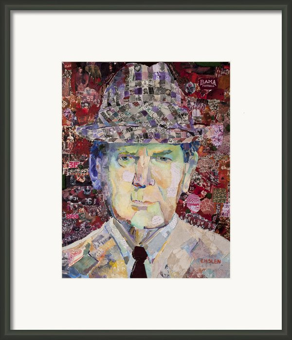Coach Paul Bryant Framed Print By Alaina Enslen