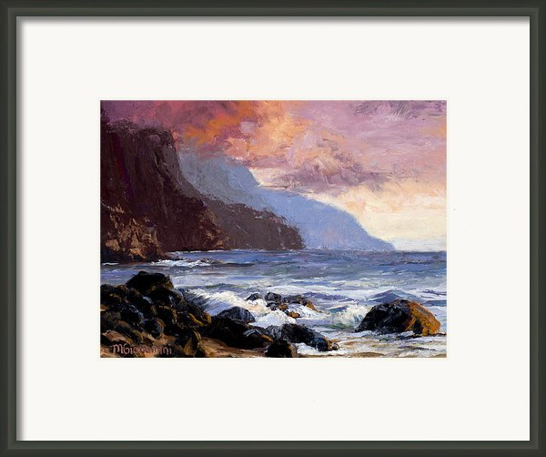 Coastal Cliffs Beckoning Framed Print By Mary Giacomini