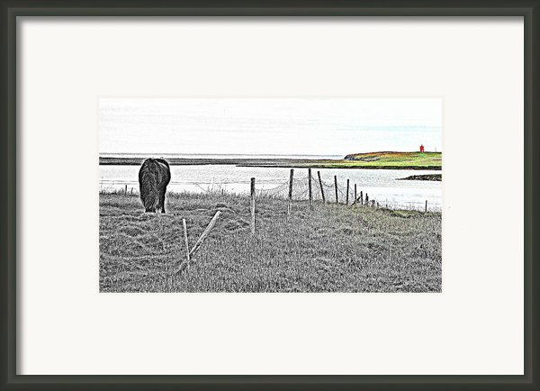 Coastal Fields Framed Print By Hilde Widerberg