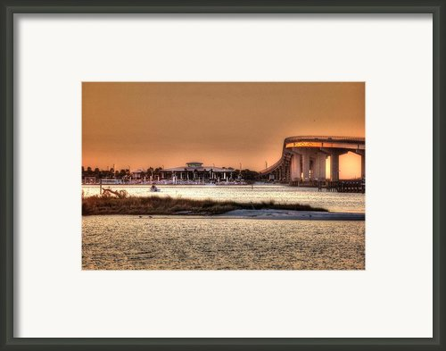 Cobalt And Bridge Framed Print By Michael Thomas