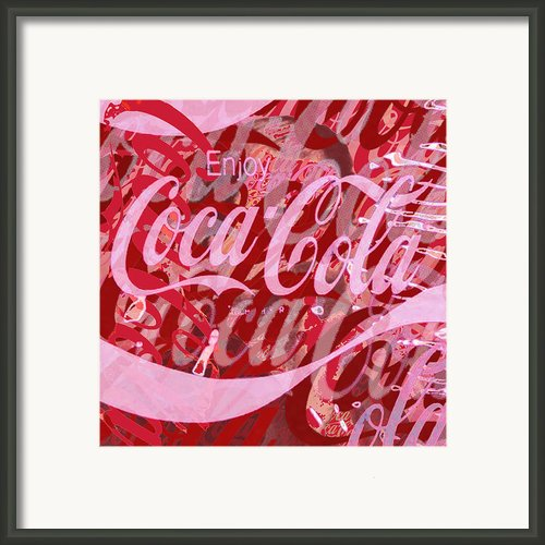 Coca-cola Collage Framed Print By Tony Rubino
