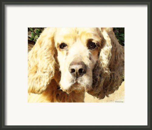 Cocker Spaniel Art - Mellow Yellow Framed Print By Sharon Cummings