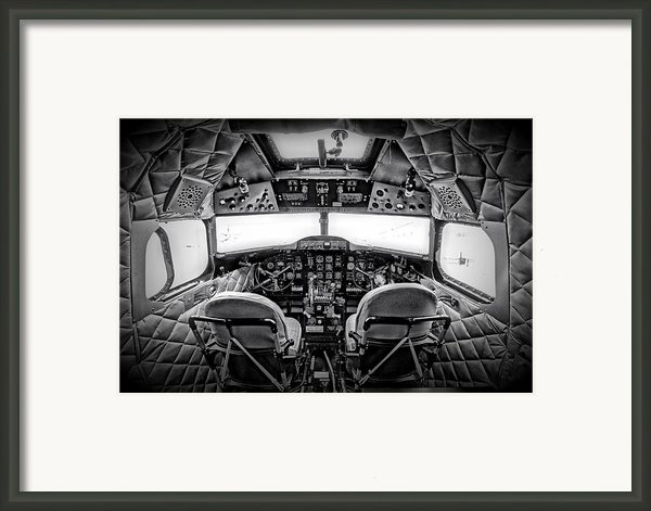 Cockpit Of A Dc3 Dakota Framed Print By Paul Fell