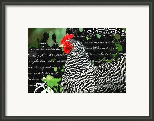 Coco French Country Chicken Print Framed Print By Adspice Studios