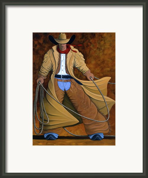 Cody Framed Print By Lance Headlee